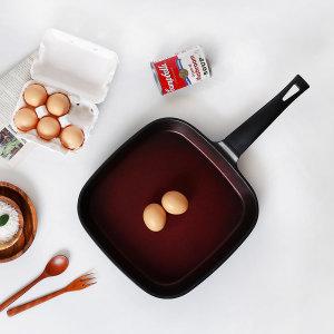 티타늄 사각 후라이팬 28cm/ 대용량 사각팬 계란말이