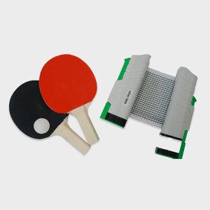 휴대용 가정용 탁구 네트1 라켓2 공2 세트 180x19cm