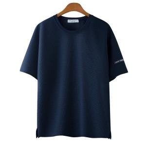 여성 빅사이즈 와플 반팔티 여름 커플티 무지 티셔츠