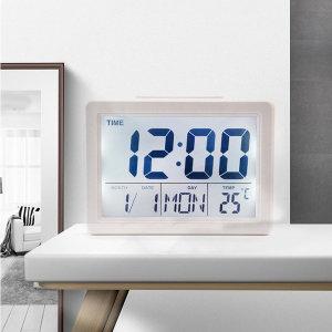 온도계표시 빅폰트 디지털 탁상알람시계