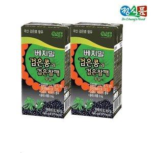 정식품 베지밀 검은콩과 검은참깨 두유 190ml x 64팩