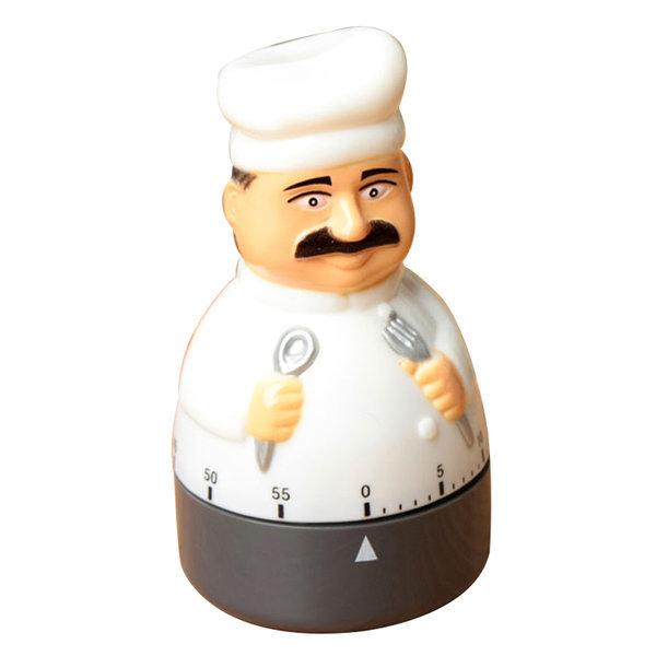 셰프 인형 쿠킹 타이머 태엽식 주방용품 시계 요리