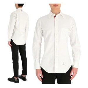 톰브라운  MWL010E 06177 100 남성 히든 삼선 옥스포드 셔츠