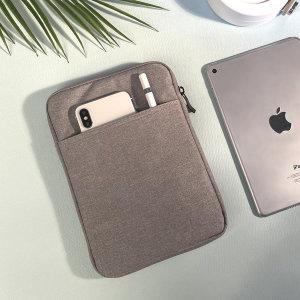 손잡이 극세사 노트북 태블릿 파우치 10인치
