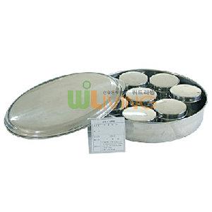 보존식용기원형스텐9세트 /보존용기/스텐반찬용기