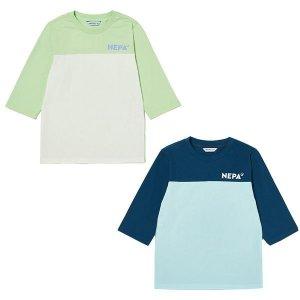 갤러리아  COLOR BLOCK TS 컬러 블럭 7부 티셔츠 KHD5307