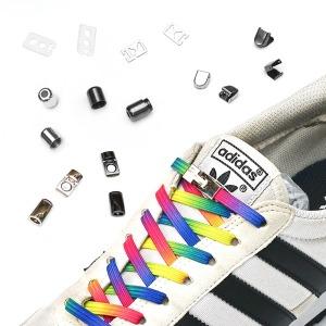 매듭없는 신발끈 매직자석 운동화끈 클립 고정