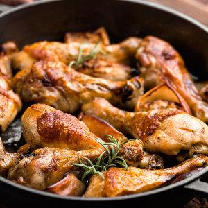 에어프라이어 치킨 떴닭 로스트 1kg+1kg/100%국내산