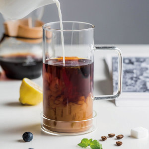 인블룸 1+1세트 대용량 아이스 강화유리 머그컵 700ml
