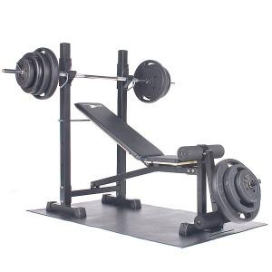 포스스포츠 각도+레그벤치 (국산)핸들원판80kg세트