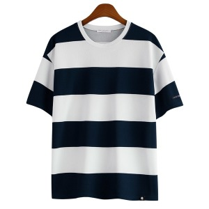 리버플 오버핏 빅사이즈 스트라이프 티셔츠 / GT-3146