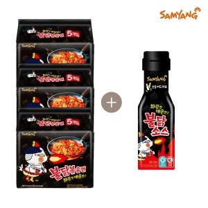삼양 불닭볶음면 + 불닭스틱소스 15개 + 10개