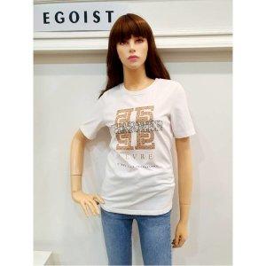 에고이스트 W몰 모노그램 배색 티셔츠 EL1CH260