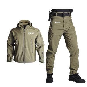 선라인 밀리터리 방수 전술복 상하세트 작업복 캠핑