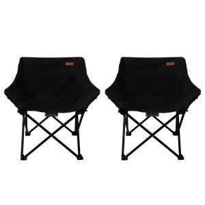 1+1 카르닉 폴딩 캠핑의자 (블랙) 야외 낚시 캠핑체어