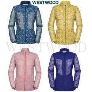 (현대백화점)웨스트우드 WK2WTJW224 여성 멀티 프린트 솔리드 메쉬 여름 자켓