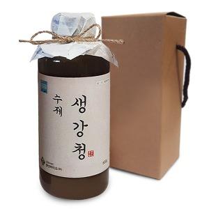 수제 생강청 600g / 국내산 무설탕 조청 원액 진액