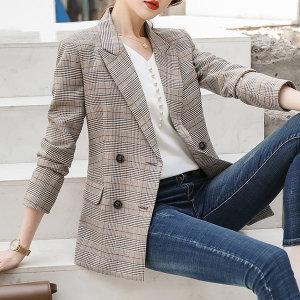 여성 정장자켓 체크 아우터 하객룩 봄신상 재킷