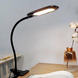플랜룩스 플리코 집게 LED 스탠드 독서등 - 흑색
