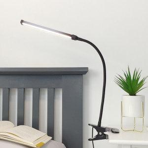 라인코 집게 LED 스탠드 독서등 책상스탠드 흑색