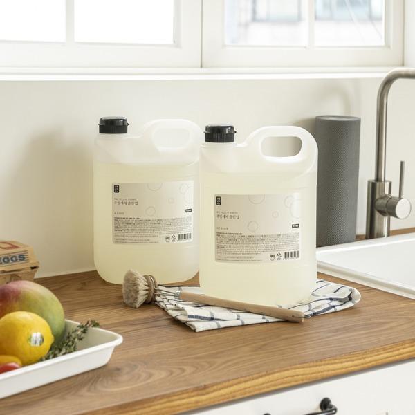 생활공작소 주방세제 4L 1+1 쌀뜨물 클린업