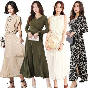 봄 여성 롱원피스/쉬폰/플라워/레이스/골지/나시/패턴