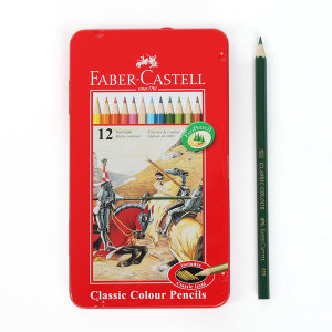 파버카스텔 12색 색연필 틴케이스 수채 색연필세트