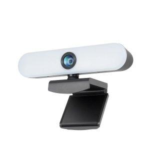 Coms LED 웹캠 램프 조명 마이크 Full HD AU919