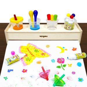 롤페이퍼 거치대 종이 유아물감 물감놀이 그림그리기