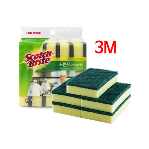 3M 스폰지 다목적 수세미 5개 스카치 브라이트