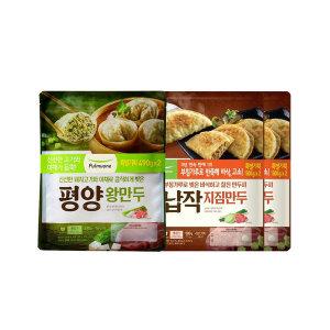 풀무원 납작지짐만두 4봉+평양왕만두 2봉