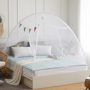 원터치 침대 모기장 텐트형 양문형 180x200-(2~3인용)