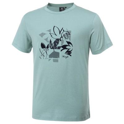 [와이드앵글] 남성 로타 패턴 라운드 반팔 티셔츠 M WMM20273G2