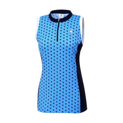 [와이드앵글] 여성 패턴 프린트 슬리브리스 티셔츠 WWM17212B2