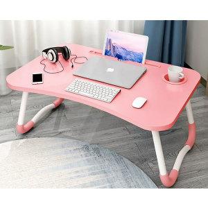 더설렌접이식좌식테이블(미끄럼방지)컵홀더태블릿거치