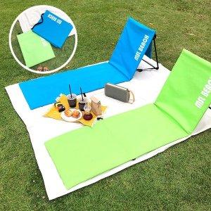 접이식 각도조절 등받이 좌식 의자 캠핑용 경량 체어