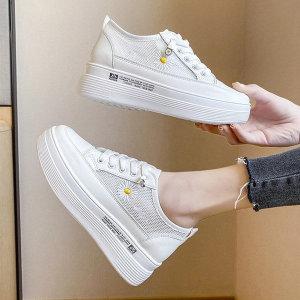 망사 키높이 여성 운동화 통굽 슬립온 신발 6.5cm