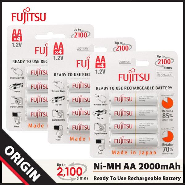 후지쯔 Ni-MH AA 2000mAh 충전지 (12알)/배터리