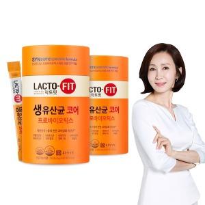 종근당건강 락토핏 생유산균 코어 60포 2통 (120일분)