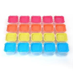 전자렌지용기 20개세트 햇밥 햇반찬밥 냉동밥보관용기