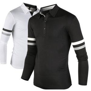 남자카라티셔츠 기능성 긴팔 골프티 골프웨어w027