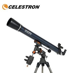 셀레스트론 AstroMaster 90EQ 굴절식 천체망원경.