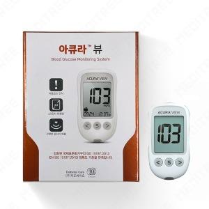 아큐라 플러스 (뷰) 혈당측정기 +시험지60+침100+솜100