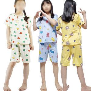 아동 잠옷 흰둥이 성인 주니어 유아 짱구 도형 세트