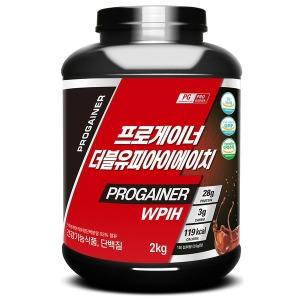 프로게이너 WPIH 2kg_초코 단백질 보충제 프리미엄형