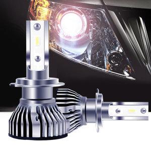 LED 전조등 H7 9006 헤드라이트 자동차전구 합법인증