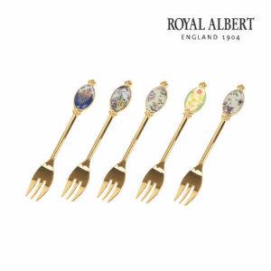 (현대백화점) 로얄알버트  100주년 리프레시 티포크 5P 세트(전기)