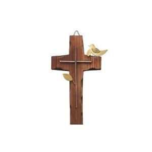 원목 벽걸이 자석 십자가(소) 비둘기