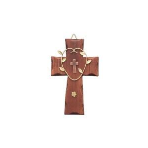원목 벽걸이 자석 십자가(소) 원