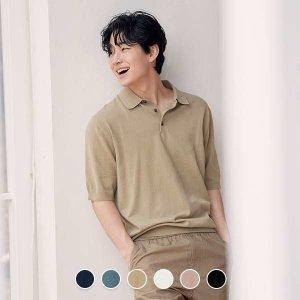 (현대백화점) 지오다노  (01051507) 남성 반팔 폴로 스웨터